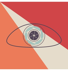 eye shutter icon vector image