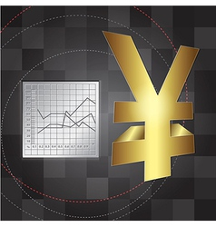 Financial background 3d yen sign vector