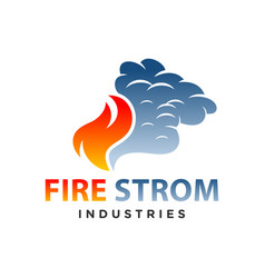 fire storm logo vector image