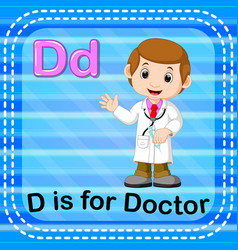 flashcard letter d is for doctor vector image
