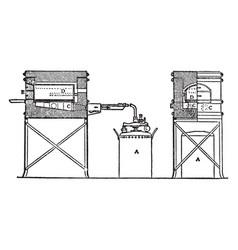 furnace vintage vector image