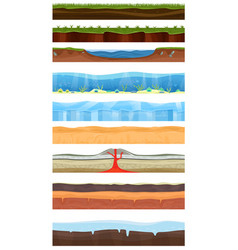 Game background cartoon landscape in summer vector