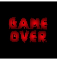 Game over text vector
