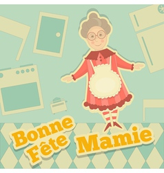 Grandmother Day France vector