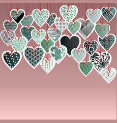 Greeting card with valentine s day vector