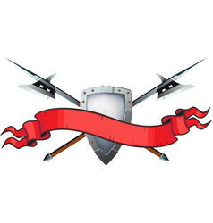 halberd shield banner vector image