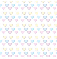 hearts background cartoons vector image