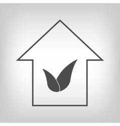 House with leaves vector