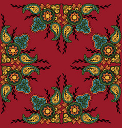 indian traditional pattern vector image