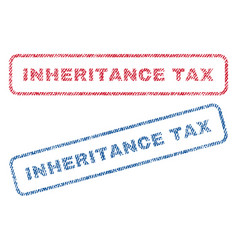 Inheritance tax textile stamps vector