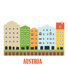 innsbruck austria landmark vector image
