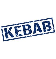 Kebab stamp vector