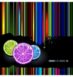 lemons background vector image