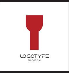 letter y logo geometric monumental label simple vector image