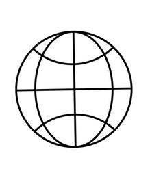 line global digital connection data information vector image