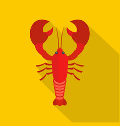 Lobster icon flat style vector