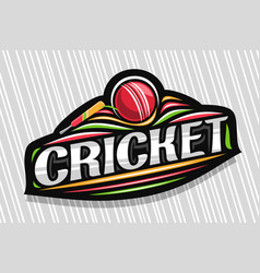 Logo for cricket sport vector