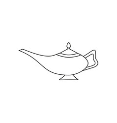 magic lamp icon vector image