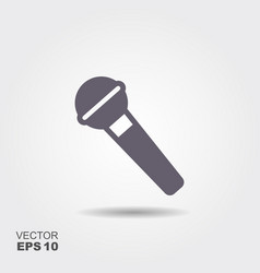 microphone icon in flat style isolated on grey vector image