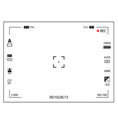 Modern digital video camera focusing screen with vector