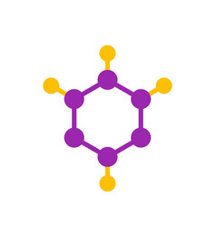 Molecule logo element icon vector