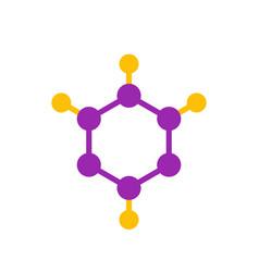 molecule logo element icon vector image