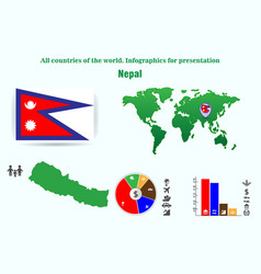 nepal all countries of the world infographics for vector image
