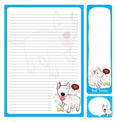Paper note bull terrier vector
