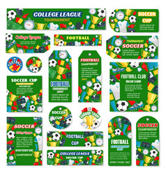 posters for football or soccer game vector image