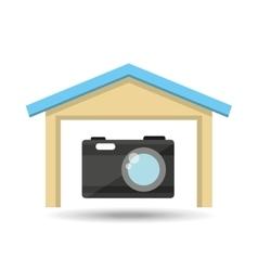 Protection camera photografy archive design vector