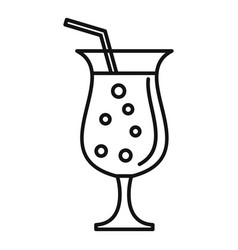 Refreshment cocktail icon outline style vector