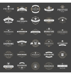 Retro vintage logotypes or insignias set vector