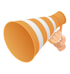 road cone speaker icon isometric style vector image