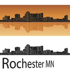 Rochester skyline in orange vector