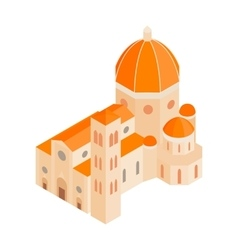 Roman Cathedral icon in isometric 3d style vector