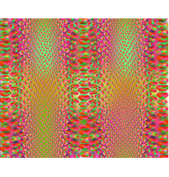 Saturated green and purple snake skin pattern vector