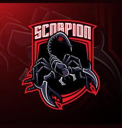 scorpion sport mascot logo design vector image