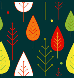 Seamless autumn vegetable pattern with abstract vector