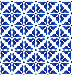 Seamless pattern blue and white vector