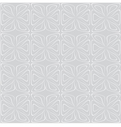 Seamless tile pattern White on gray vector image