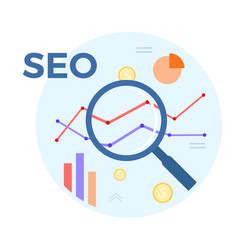 seo analysis flat concept of vector image