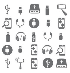 Set of 100 technology icons electronic devices vector
