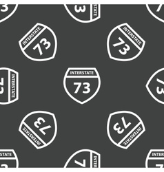 Sign Interstate 73 pattern vector image