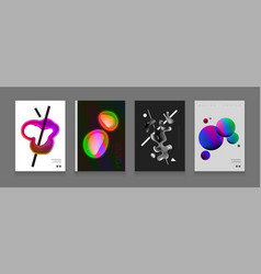stock color covers set fluid vector image
