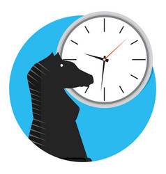 Strategy time icon vector