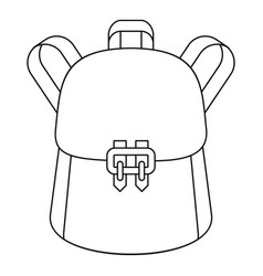 Trendy backpack icon outline style vector