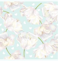 Tulip pattern green vector