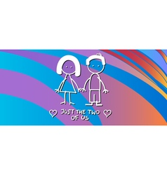 valentine card with couple vector image