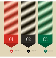 Vertical banner arrow design for infographics vector