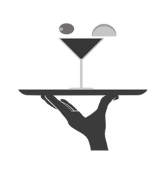 Waiter serving a dish vector image